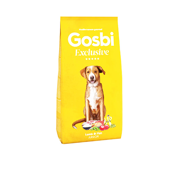"GOSBI – גוסבי אקסלוסיב ג'וניור לגורי כלבים – כבש סלמון ודגי ים 12 ק""ג"