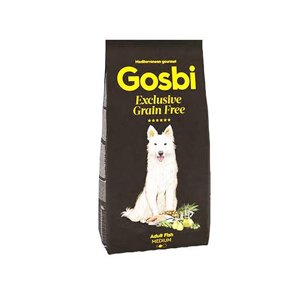 GOSBI גוסבי אקסלוסיב לכלב בוגר סלמון ודגי ים  ללא דגנים