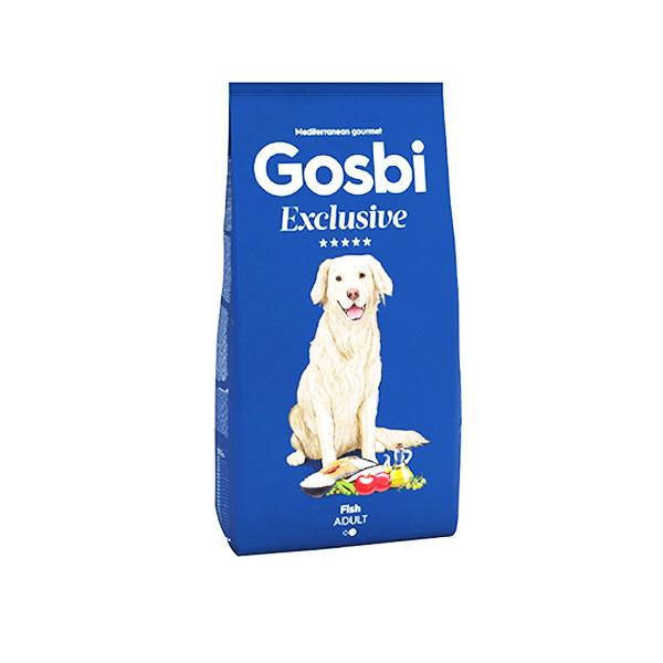 "GOSBI גוסבי אקסלוסיב לכלב בוגר סלמון ודגי ים 12 ק""ג"