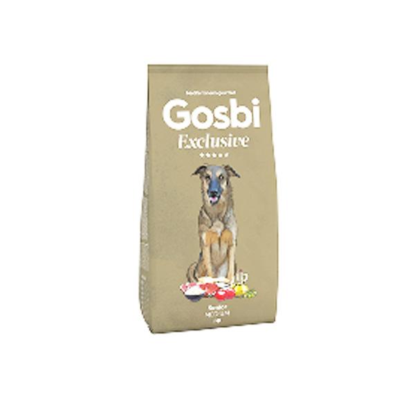 """GOSBI גוסבי אקסלוסיב סניור לכלב מבוגר עוף, דגי ים וכבש 12 ק""""ג"""