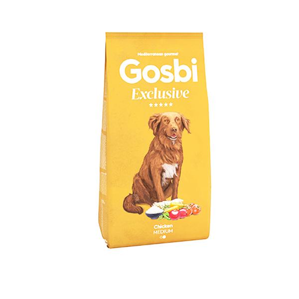 """GOSBI גוסבי אקסלוסיב לכלב בוגר עוף ודגי ים 12 ק""""ג"""