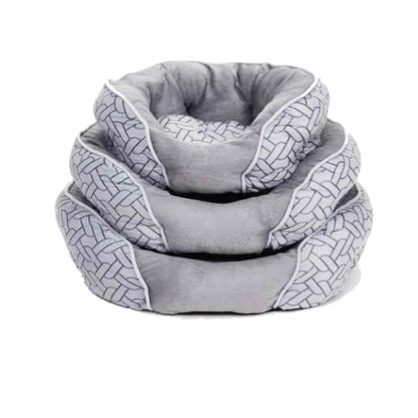 """מיטה מעוצבת מבד בצבע אפור 40 ס""""מ XS"""