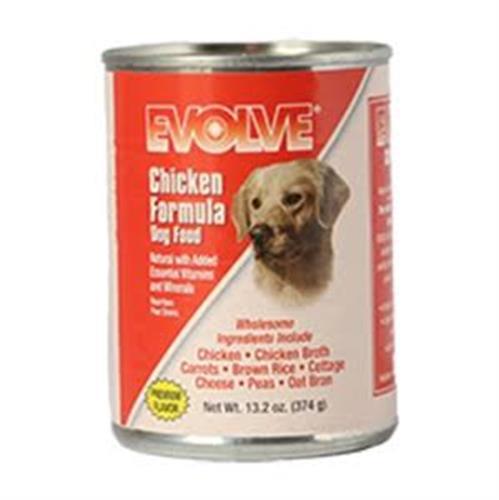 EVOLVE – מארז 12 יחידות איוולב שימורי עוף לכלב 374 גרם