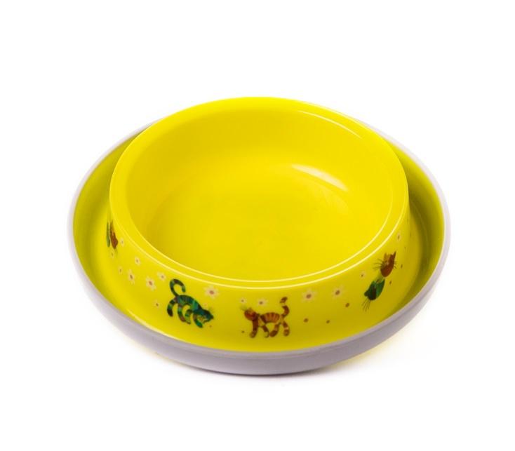 """צלחת פלסטיק צהובה מעוצבת 210 מ""""ל"""