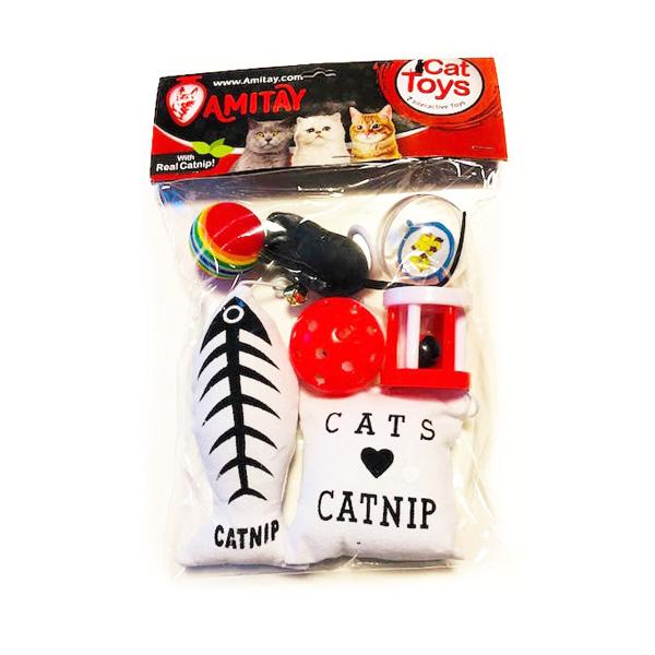 קיט שבעה צעצועים לחתול