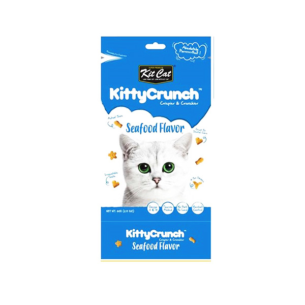 KITTY CRUNCH חטיף מעדני ים לחתול 60 גרם