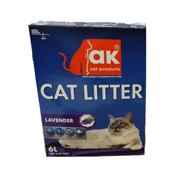 AK חול מתגבש בריח לבנדר 6 ליטר בקרטון מבצע כמות