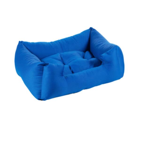 מיטה כחולה מכותנה