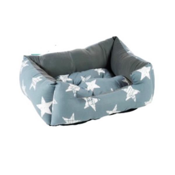 מיטה בצבע כחול כוכבים מכותנה