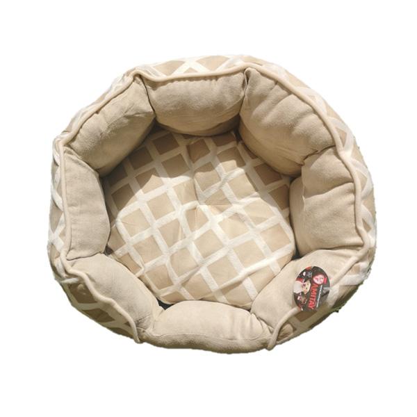 """מיטה מעוצבת מבד בצבע בז' 40 ס""""מ XS"""
