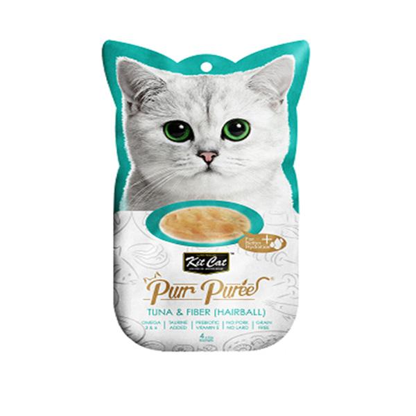 מעדן שלוקים קיטקט לחתול 60 גרם- טונה מעושרת בסיבים (היירבול)