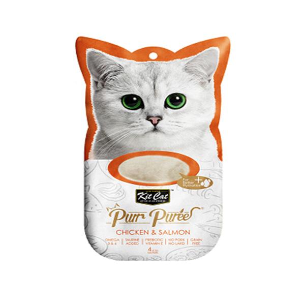 מעדן שלוקים קיטקט לחתול 60 גרם- עוף וסלמון