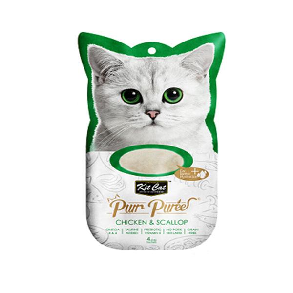 מעדן שלוקים קיטקט לחתול 60 גרם- עוף וצדפות